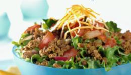 """Ensalada estilo """"Taco Salad"""" Baja en Carbohidratos"""