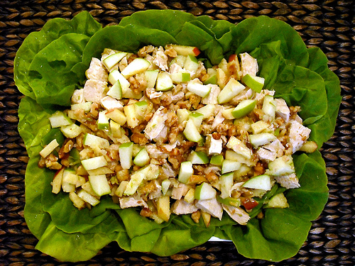 Minty Chicken and Apple Salad
