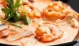 Sopa Picosita de Camarones con Hongos