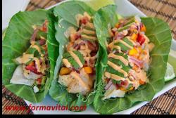 Tacos de Pescado sin Tortilla