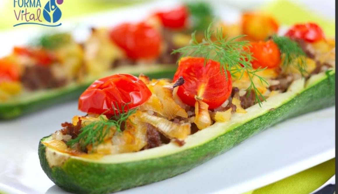 zucchini boats stuffed with ground meat